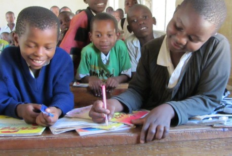 Barn på Nyandira barneskole